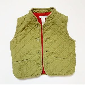 Janie & Jack Olive Green Quilted Vest